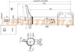 Стойка задняя TOYOTA COROLLA/SPRINTER/SPACIO/CARIB/LVN/CRE/TRN/MRN 91-02 2WD LH