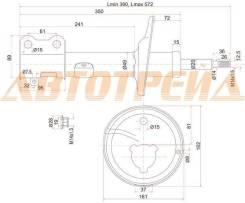 Стойка задняя TOYOTA COROLLA/SPACIO/SPRINTER/CARIB 91-02 4WD LH