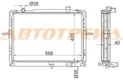 Радиатор KIA BONGO 04- K2400/K2700 D2.4/2.7 (420)