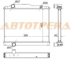 Радиатор MITSUBISHI FUSO FK71G/ FK627/ FK727/ FK-728/ 6D16 / 6M61/ 6D17 98- SAT MC0012-1