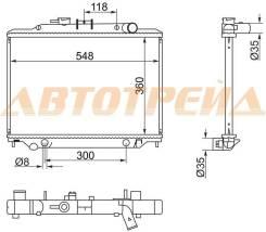 Радиатор NISSAN CARAVAN/URVAN 2,0/2,4 02- STNS0087