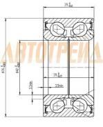 Подшипник FR ступицы HYUNDAI IX35/KIA SPORTAGE/RR HYUNDAI SANTA FE/KIA SPORTAGE 4WD 42/76/39
