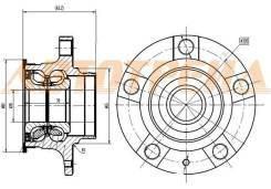 Ступичный узел RR SKODA FABIA/RAPID/VW POLO 09,11-