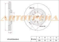 Диск тормозной передний IS Trooper/BigHONDArn 91-02, Opel переднийоntеrа/Monterey