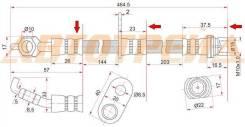 Шланг тормозной передний (таиланд) toyota alphard/estima/previa/tarago 99- rh, правый