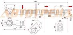 Шланг тормозной передний (таиланд) toyota alphard/estima/previa/tarago 99- lh, левый