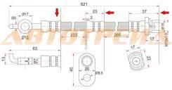 Шланг тормозной передний (Таиланд) TOYOTA COROLLA/SPACIO/RUNX/IPSUM/NOAH/VOXY/PREMIO 00- RH