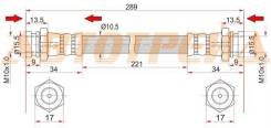 Шланг тормозной задний (Таиланд) MAZDA 121 91-98/DEMIO 96-01/NISSAN CUBE 98-02 LH=RH