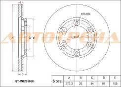 Диск тормозной передний MITSUBISHI Canter FA510, FB/FE30#, FB51# ST-MB295968