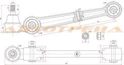 Рычаг нижний прямой с шаров. MITSUBISHI ECLIPSE/GALANT/ETERNA/EMERAUDE/LEGNUM 92-04 LH=RH