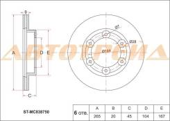 Диск тормозной передний MITSUBISHI Canter FB501,FA500,FA523,FA580 SAT ST-MC838750