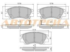 Колодки тормозные FR MITSUBISHI DELICA P#V/P#W 94-00/L200 K#T 86-96/PAJERO V2#W/V4#W 90-00