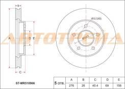 Диск тормозной передний MITSUBISHI Airtrek/Outlander CU4/5W, Diamant F31/36/41, Cedia CS5A, Grandis ST-MR510966