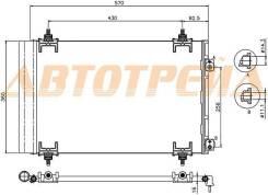 Радиатор кондиционера PEUGEOT 308 07-12