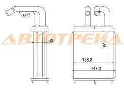 Радиатор отопителя салона toyota dyna, toyo ace bu6#, 7#, 8# 88-94