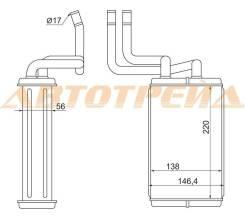 Радиатор отопителя салона toyota dyna, toyo ace xzu301.cng, bzu300, xzu340. 95-2003