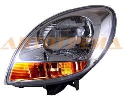 Фара RENAULT KANGOO 03-07 хром, желтый поворот TG-551-1145L-LDEMY