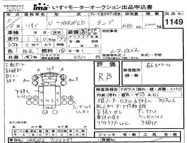 Isuzu Elf. Продам I. ELF 93 г. без ПТС, самосвал рама NKR66 ДВС-4HF1, 4 300 куб. см., 3 000 кг.