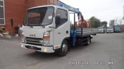 ГАЗ Газель Next. Грузовик бортовой с КМУ JAC N56, 2 800 куб. см., 2 500 кг.