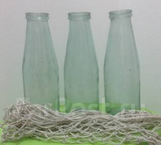 Молочная бутылка 3 шт + авоська комплект СССР Перестройка винтаж. Оригинал