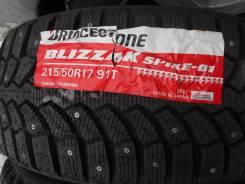 Bridgestone Blizzak Spike-01. Зимние, шипованные, 2014 год, без износа, 2 шт