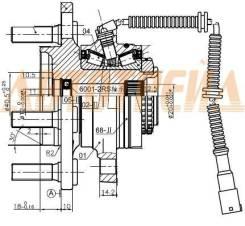 Ступичный узел FR SSANG YONG ACTION/SPORTS/KYRON/REXTON 01- ST-41420-09401