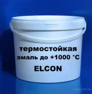 Эмаль термостойкая Элкон черная до 1000 градусов ведро 10 кг.