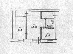 2-комнатная, улица Пограничная(Южно-морской) 8а. Южно-Морской, частное лицо, 41 кв.м. План квартиры