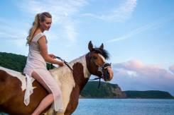 Конные прогулки, фотосессии, обучение верховой езде.