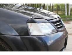 Накладки (реснички) для оптики Renault Logan 2004 - 2010. Renault Logan, LS0G/LS12 Двигатели: K7M, K7J. Под заказ