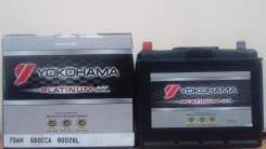 Yokohama Batteries. 70А.ч., Прямая (правое), производство Корея
