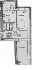 2-комнатная, Заводская 2. агентство, 62 кв.м.