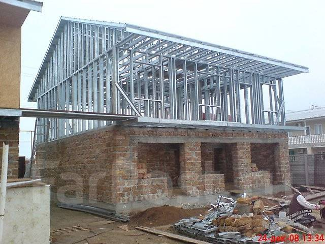 Стропильная система ЛСТК, реконструкция крыш, мансард