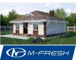 M-fresh Optimum-зеркальный (Проект одноэтажного дома! ). 100-200 кв. м., 1 этаж, 4 комнаты, бетон
