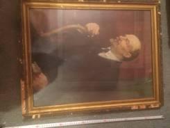 Картина Ленина, старая в рамке.
