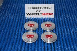 """Наклейки, логотипы """" Vossen """" 4 шт, серебро, 65,5мм, (Отправлю)"""