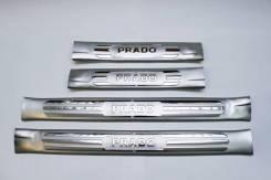 Накладка на порог. Toyota Land Cruiser Prado, GRJ150, GRJ150L, GRJ150W, GRJ151W, KDJ150, KDJ150L, TRJ120, TRJ150, TRJ150L, TRJ150W Двигатели: 1GRFE, 1...
