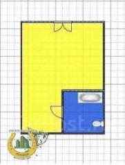 Гостинка, улица Добровольского 11. Тихая, агентство, 18 кв.м. План квартиры