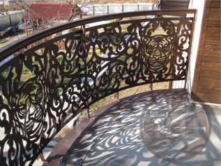 Резка по металлу: ворота, заборы, калитки, мангалы, скамейки, балконы