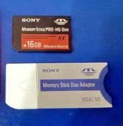 Memory Stick PRO-HG Duo HX. 16 Гб, интерфейс Memory Stick