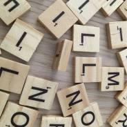 Деревянные буквы, английские 100 штук.