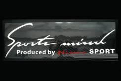 Оракал на кузов Sports mind by Nismo, бело-красный (50х15см). Mini Nissan