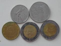 Италия подборка из 5 монет. Без повторов! Торги с 1 рубля!