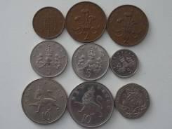 Великобритания подборка из 9 монет. Без повторов! Торги с 1 рубля!