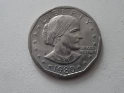 США 1 доллар 1980 г. Сьюзен Энтони.