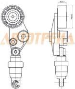 Натяжитель приводного ремня SSANG YONG ACTYON/KYRON/REXTON 2,0D 01- ST-6652000070