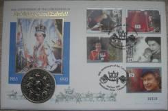 5 фунтов 1993 год Англия, 40-ая годовщина коронации, КПД, Редкость