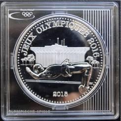 1000 франков КФА.2015г. Камерун. Олим-да/Прыжки в высоту. Серебро. Proof.
