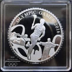 2 доллара.2015г. Самоа. Олим-да/Факелоносец. Серебро. Proof.
