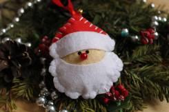 "Елочная игрушка из фетра ""Дед Мороз""! Ручная работа"